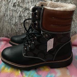 Coach combat boots 7.5